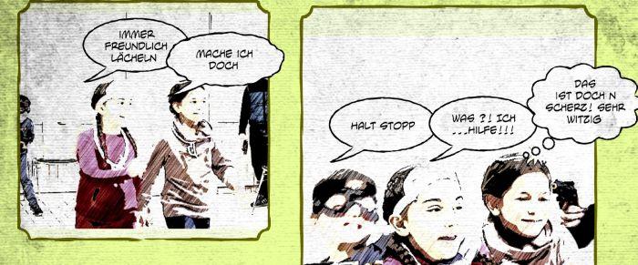 Auszug aus dem Comic Der Schmuckraub