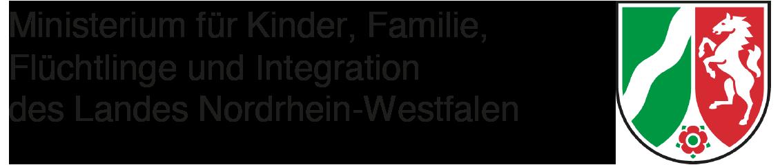 Logo und Link zum Ministerium für Kinder, Familie, Flüchtlinge und Integration des Landes Nordrhein-Westfalen