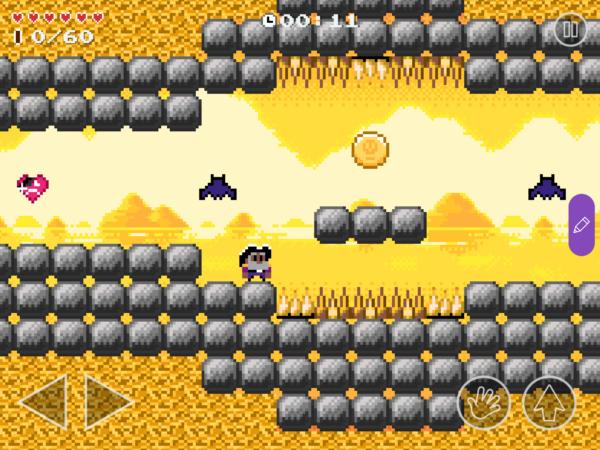 ein aus Blöcken bestehendes Spiel in Bloxels edu